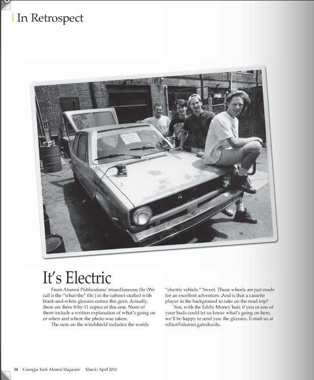 Psi U built electric car Circa 1993