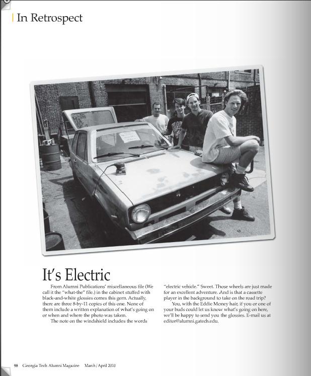 Psi U built electric car Circa 1993