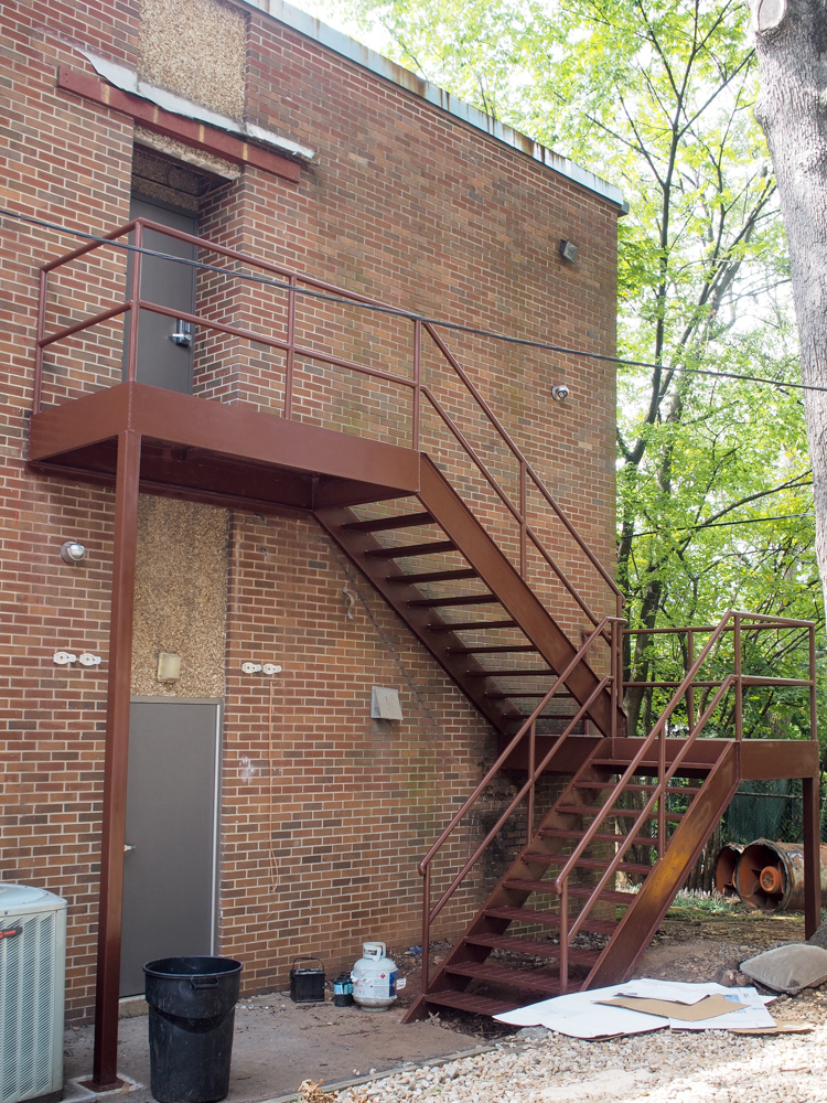 New rear exterior stairs